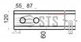 Внутрипольные конвекторы с естественной конвекции Polvax KE.230.120 2