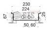 Внутрипольные конвекторы с естественной конвекции Polvax KE.230.67 2