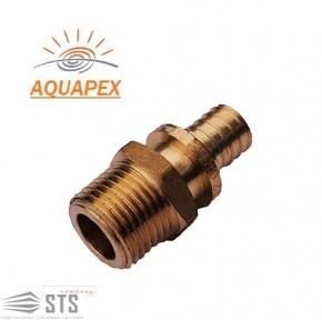Патрубок (штуцер) с наружной резьбой Golan «Aqua-Pex»