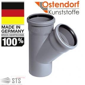 Тройник канализационный 45° Ostendorf