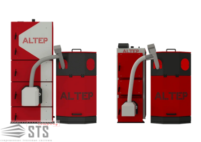 Котел на твердом топливе Duo Uni Pellet Plus 75 кВт ALTEP (с горелкой Altep)