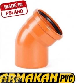 Колено канализационное наружное ARMAKAN ПП 110