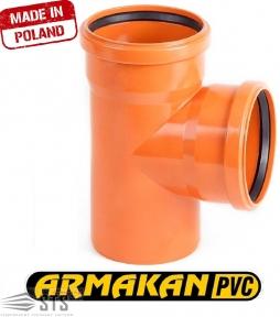 Тройник канализационный наружный ARMAKAN ПП 110/110