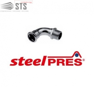 Колено стальное Наружная резьба  90° оцинкованное (отопление) STEELPRES® RM