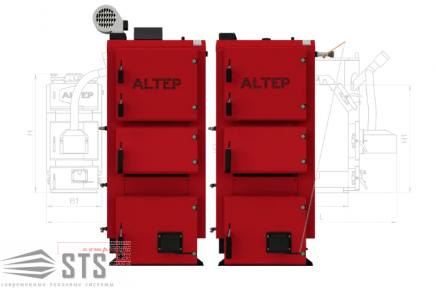 Котел на твердом топливе DUO PLUS 62 кВт ALTEP (автоматика TECH)