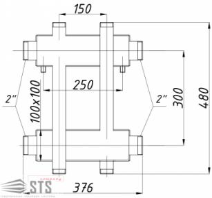 Коллектор TERMOJET 175 кВт с выходами вверх и вниз