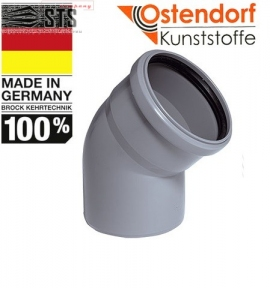 Колено канализационное 67° Ostendorf