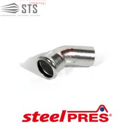 Колено стальное 45° ВН оцинкованное (отопление) STEELPRES® RM