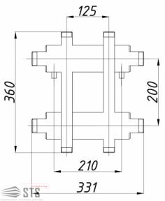 Коллектор TERMOJET  72 кВт с выходами вверх и вниз