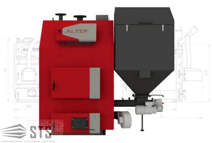 Котел на твердом топливе TRIO Pellet 150 кВт ALTEP