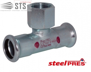 Тройник стальной оцинкованный с внутренней резьбой (отопление) STEELPRES® RM