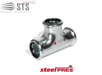 Тройник стальной оцинкованный (отопление) STEELPRES® RM