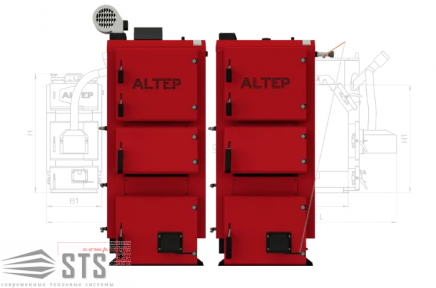 Котел на твердом топливе DUO PLUS 15 кВт ALTEP (механика)