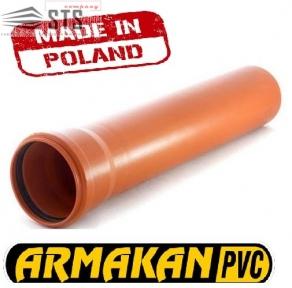 Труба канализационная наружная ARMAKAN ПВХ  160х3,2мм